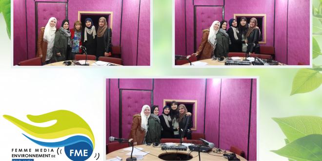 L'équipe du projet Femme-Media & Environnement en studio